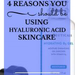 "SkinCeuticals Hydrating B5 Gel with dropper and blue text overlay, ""4 Reasons You Should Be Using Hyaluronic Acid Skincare! 