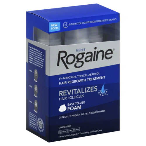 Men's Rogaine Foam with 5% Minoxidil | MasterpieceSkinRestoration.com