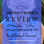 smiling girl with missing teeth drinking a glass of milk with blue text overlay, Orthotropics Review | An Alternative to Traditional Braces! | MasterpiecSkinRestoration.com""