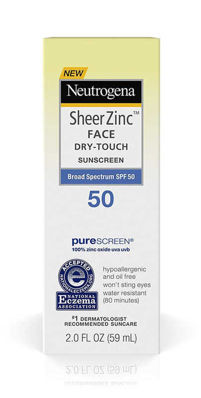 Neutrogena Sheer Zinc Face Dry -Touch Sunscreen box SPF 50