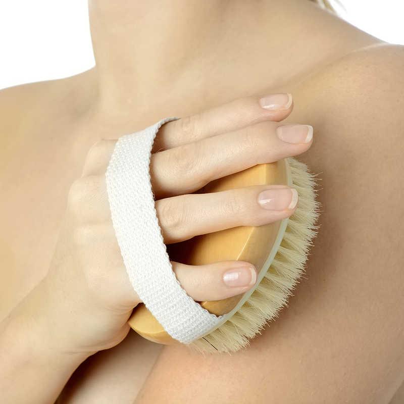 Woman drybrushing her skin | 8 Ingredients in Lip Balm & Cosmetics That Cause Allergies | Masterpiece Skin Restoration