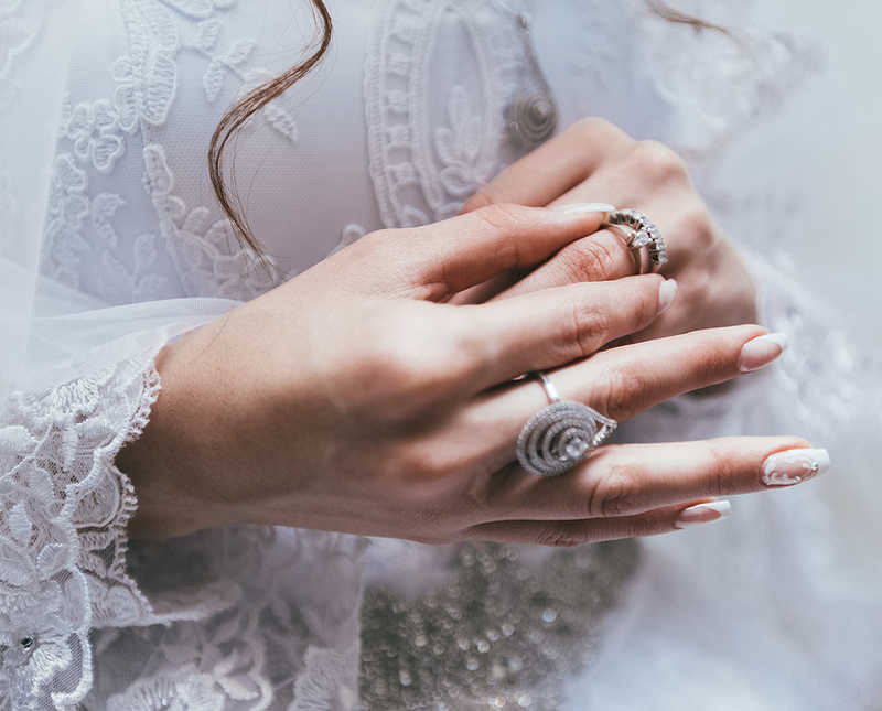 Closeup of beautiful wedding nails   12 Ways to Treat Fingernail Ridges   Masterpiece Skin Restoration