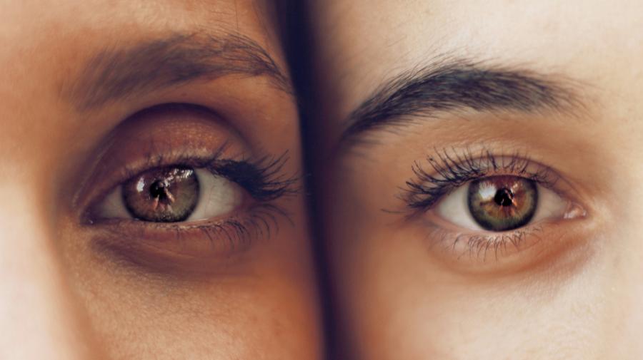 Beautiful eyes of 2 people side by side