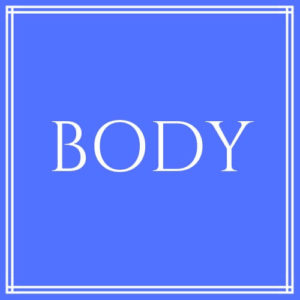 """Body"" text on blue background"