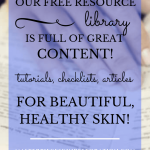 "closeup of woman's hands holding a book while she reads with blue text overlay, ""Our Free Resource Library Is Full of Great Content! 