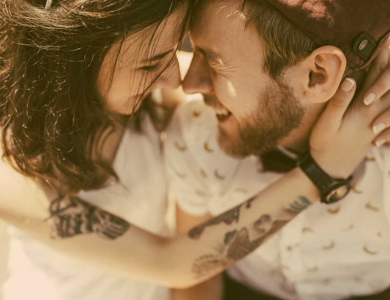 tattooed couple getting married