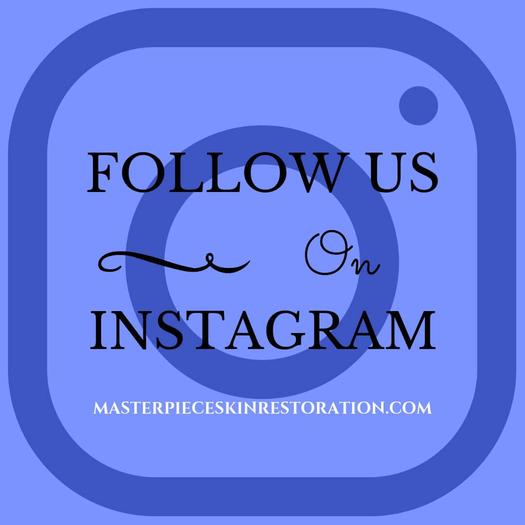 "Instagram logo with blue text overlay, ""Follow Us on Instagram 
