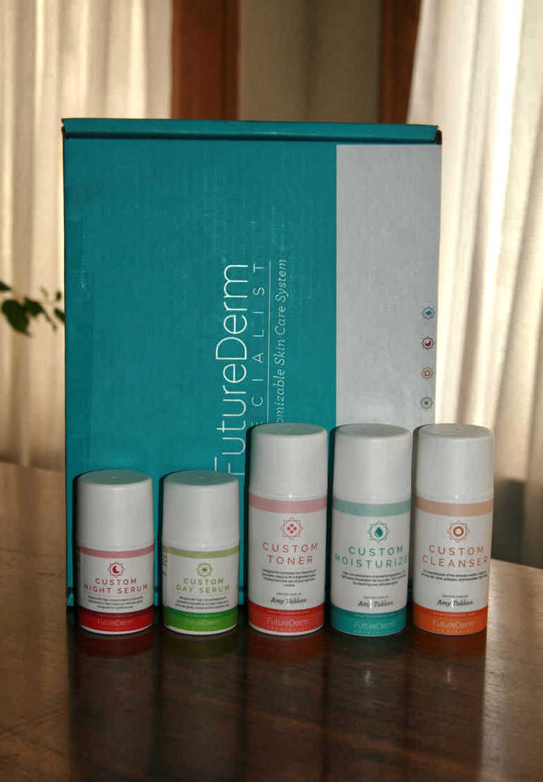 FutureDerm Custom Skincare Line & Box