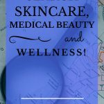 "magnifying glass laying on a map with blue text overlay, ""Search Skincare, Medical Beauty and Wellness! 