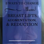 """woman with long dark hair wearing a black bra behind netting with blue text overlay, """"Breasts 