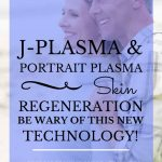 "Mature couple standing on the beach with blue text overlay, ""J-Plasma & Portrait Plasma Skin Regeneration | Be Wary of This New Technology! | MasterpieceSkinRestoration.com"""